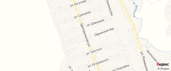 Центральная улица на карте деревни Антоновки с номерами домов