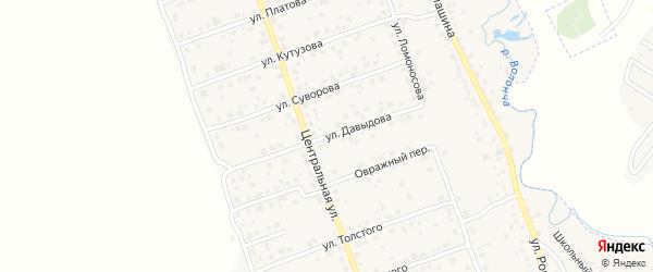 Улица Давыдова на карте деревни Антоновки с номерами домов