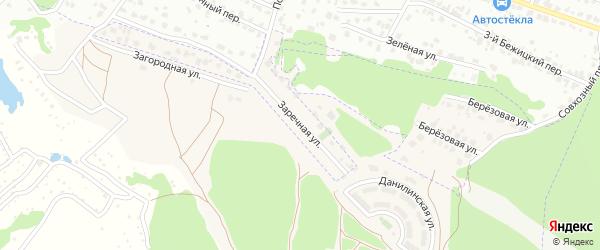 Улица Заречная (10-й микрорайон) на карте поселка Путевки с номерами домов