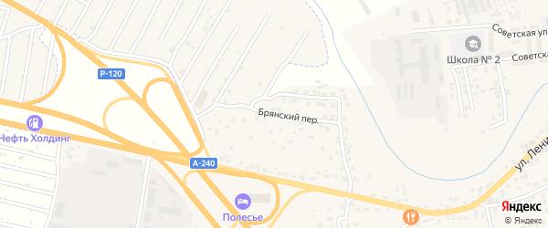Брянский переулок на карте села Супонево с номерами домов