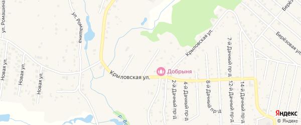 Крыловский 1-й переулок на карте села Толмачево с номерами домов