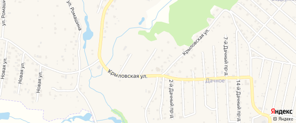 Крыловский 1-й проезд на карте села Толмачево с номерами домов