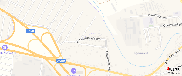 2-й Брянский переулок на карте села Супонево с номерами домов