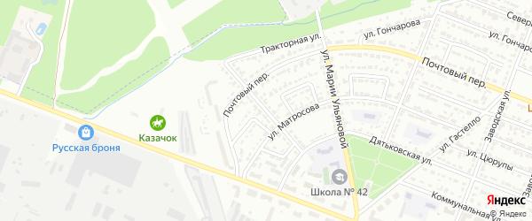 Тракторная улица на карте Брянска с номерами домов