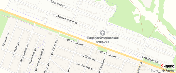Строевая улица на карте Брянска с номерами домов