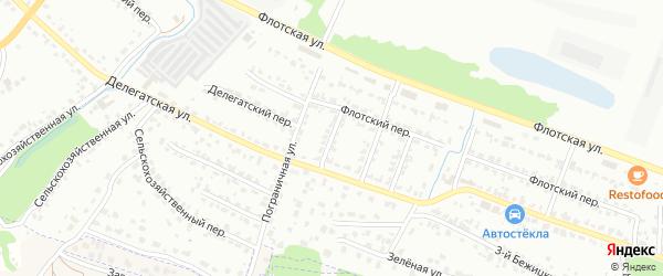 Пограничный переулок на карте Брянска с номерами домов
