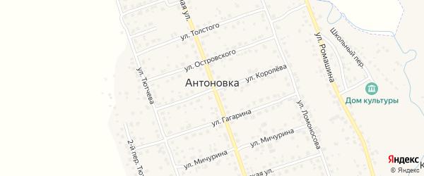 Тупиковая улица на карте поселка Антоновки с номерами домов