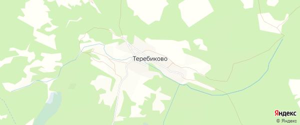 Карта деревни Теребиково в Брянской области с улицами и номерами домов