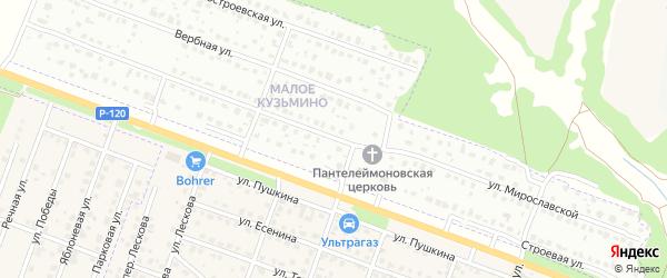 Улица Мирославской на карте Брянска с номерами домов