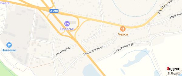 Дорожный переулок на карте села Супонево с номерами домов