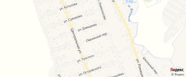 Овражный переулок на карте деревни Антоновки с номерами домов