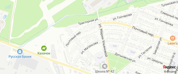 Улица Седова на карте Брянска с номерами домов