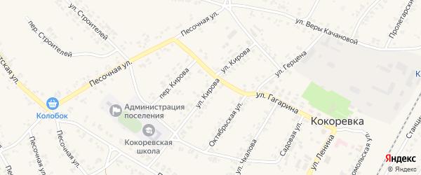 Улица Кирова на карте поселка Кокоревки с номерами домов