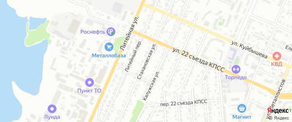 Стахановская улица на карте Брянска с номерами домов