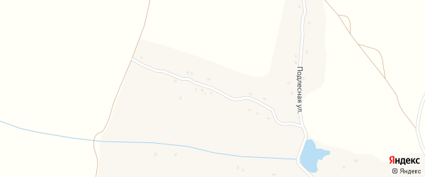 Подлесная улица на карте села Хвощовки с номерами домов