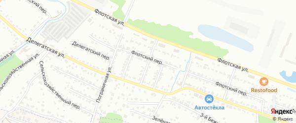 Флотский проезд на карте Брянска с номерами домов
