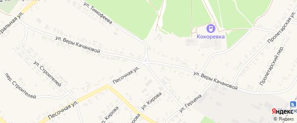Улица Веры Качановой на карте поселка Кокоревки с номерами домов