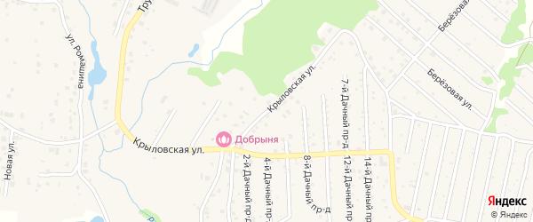 Крыловская улица на карте села Толмачево с номерами домов