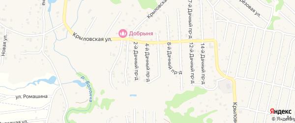 Дачный 4-й проезд на карте села Толмачево с номерами домов