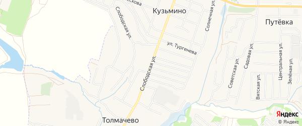 ГСК Толмачево на карте села Толмачево с номерами домов