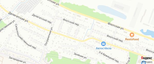 3-й Флотский проезд на карте Брянска с номерами домов