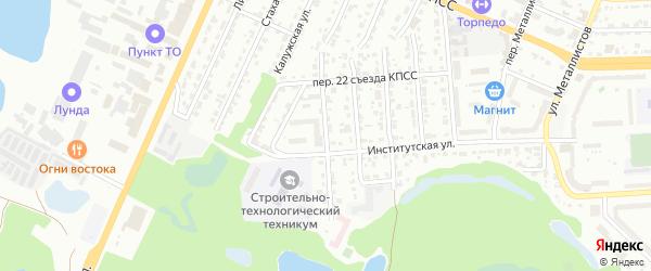 Житомирский переулок на карте Брянска с номерами домов