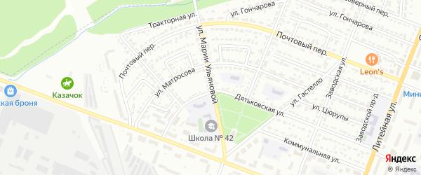 Улица Марии Ульяновой на карте Брянска с номерами домов