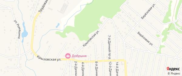 Березовая улица на карте села Толмачево с номерами домов