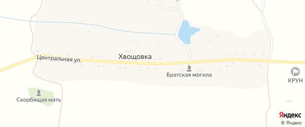 Центральная улица на карте села Хвощовки с номерами домов