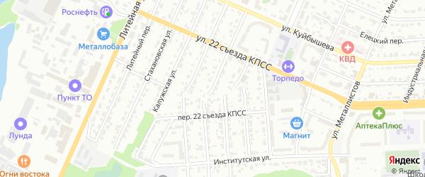 Витебская улица на карте Брянска с номерами домов