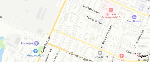 Калужская улица на карте Брянска с номерами домов
