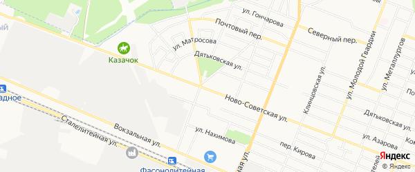 Территория ГО Ново-Советская 144 на карте Брянска с номерами домов