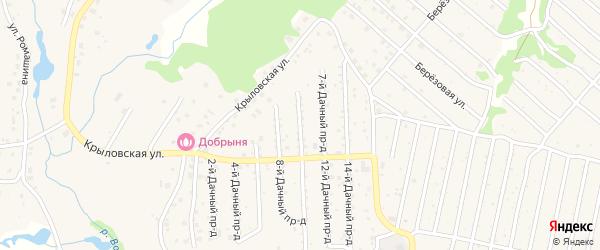 Дачный 5-й проезд на карте села Толмачево с номерами домов