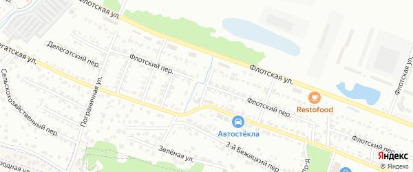 2-й Флотский проезд на карте Брянска с номерами домов