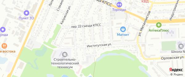Ржевский переулок на карте Брянска с номерами домов