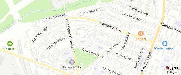 Улица Александра Матросова на карте Брянска с номерами домов