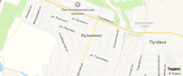 Карта поселка Кузьмино в Брянской области с улицами и номерами домов