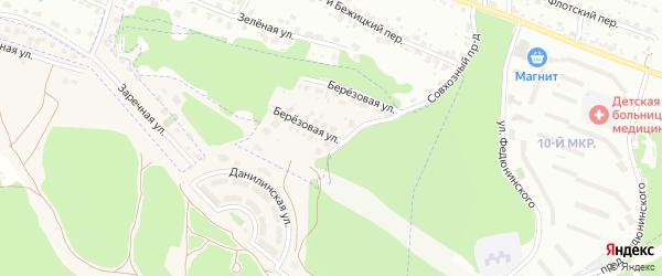 Улица Березовая (10-й микрорайон) на карте поселка Путевки с номерами домов