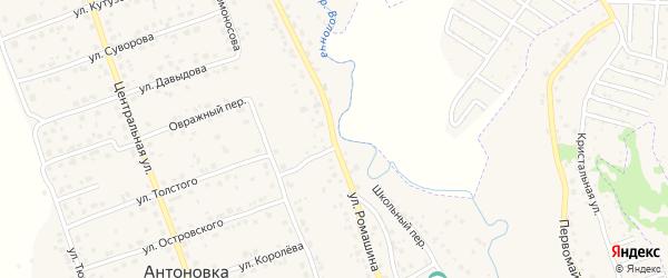 Улица Ромашина на карте деревни Антоновки с номерами домов
