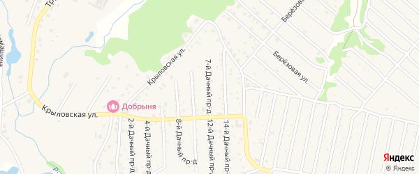 Дачный 7-й проезд на карте села Толмачево с номерами домов