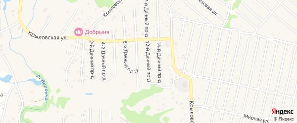 Дачный 12-й проезд на карте села Толмачево с номерами домов