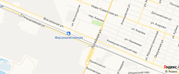 ГО Вокзальная территория на карте Брянска с номерами домов