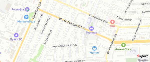 Витебский переулок на карте Брянска с номерами домов