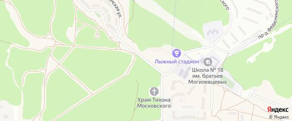 Улица Андрея Рублева на карте Мичуринского поселка с номерами домов