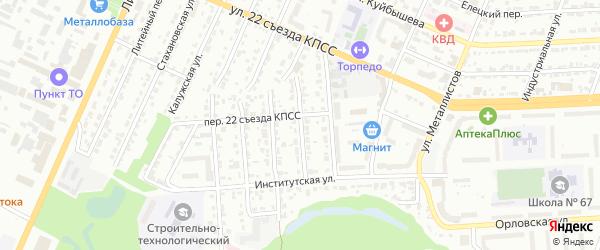 Курский переулок на карте Брянска с номерами домов
