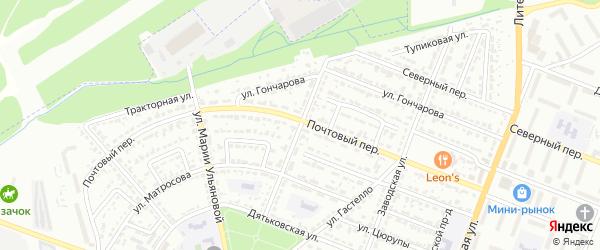 Улица Марии Расковой на карте Брянска с номерами домов