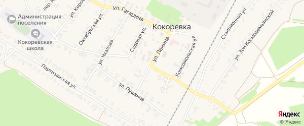 Улица Ленина на карте поселка Кокоревки с номерами домов