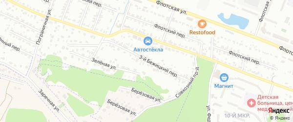 3-й Бежицкий переулок на карте Брянска с номерами домов
