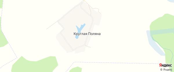 Карта деревни Круглая Поляна в Брянской области с улицами и номерами домов