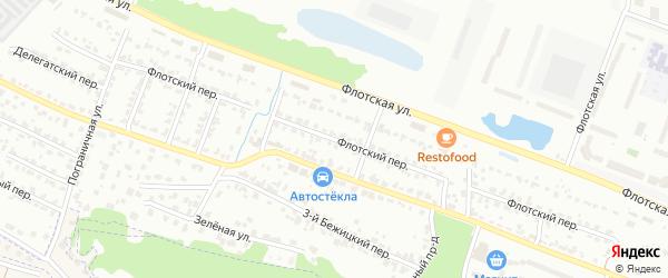 Флотский переулок на карте Брянска с номерами домов